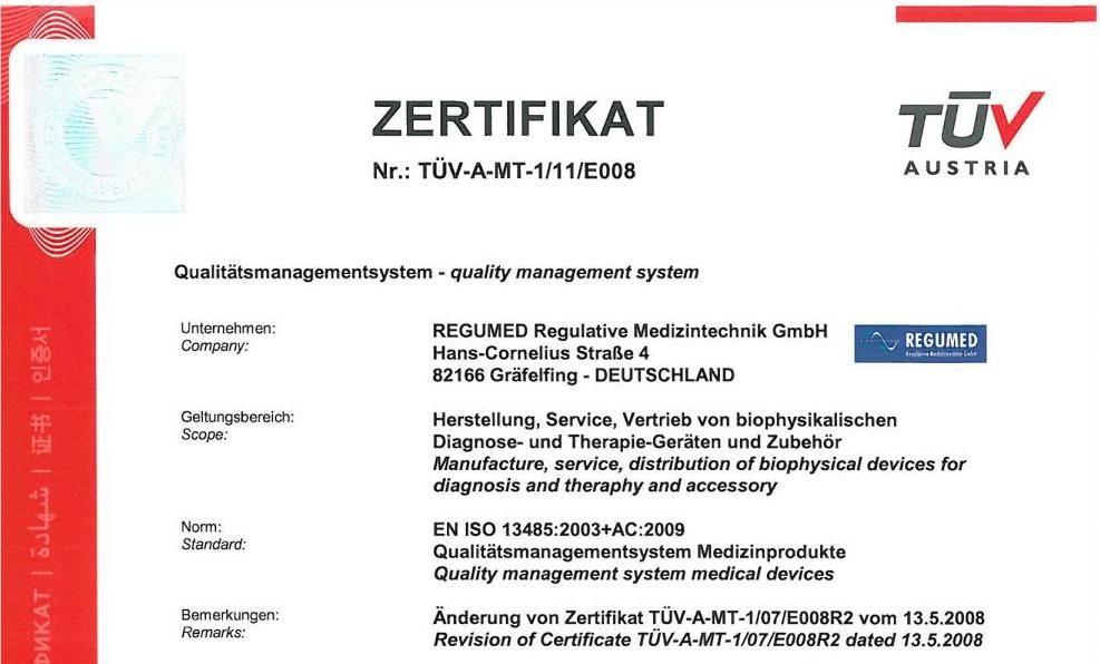 zertificat regumed
